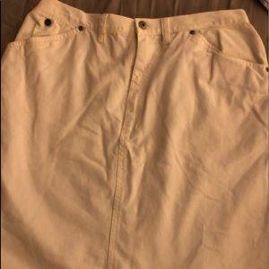 White cotton jean skirt